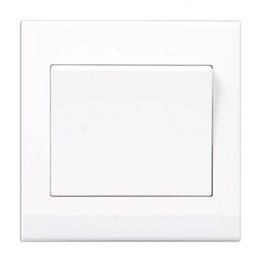 Simplicity White Screwless Rocker Light Switch 1 Gang 1 Way Pulse/Retractive 07080